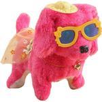 Elektronisk gående plysch färgglad hund, interaktiv barnleksak, barnjul - Red - China