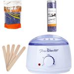 500 gram Pärlvax + vaxvarmer set | Pearl Wax Startpaket för hårborttagning