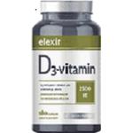 Elexir Pharma Vitamin D3 180 kapslar
