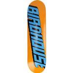 """Birdhouse Type Logo 7.75"""" Skateboard Deck - orange - Uni"""