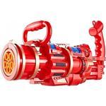 Aionyaaa Elektrisk Gatling Bubble Machine Barn Leksak Barn Utomhus Leksak Gatling Bubble Gun Röd