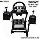 GT Omega Steering Wheel Stand PRO for Fanatec GT2 GT3 CSR Gaming Wheel & Clubsport Pedals Supporting PS4 Xbox Thrustmaster - Foldable, Tilt-Adjustable Design for Ultimate Simulator Racing Experience