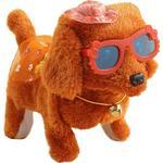 Elektronisk gående plysch färgglad hund, interaktiv barnleksak, barnjul - Brown - China