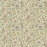 William Morris Fruit Ivory/Teal Tyg