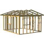 Varberg Timber Friggebodsstomme 15m² (Typ: Sadeltak)