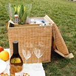 Picknickkorg - Kylväska och sittpall i en!, Brun