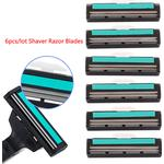 6pcs/lot Shaver Razor Blades Cassette Shaving Blade For Men 2 One Size