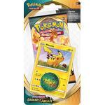 Pokemon Blister Pack - 1-Pack Checklane Blister: 1 Sword & Shield: Darkness Ablaze Booster Pakke + Hatenna Black Star Promo & Pokemon Mønt