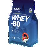 Star Nutrition Whey 80 1kg - Strawberry