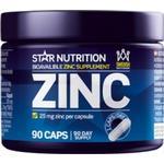 Star Nutrition Zinc, 25 mg, 90 caps