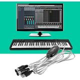 Hant Ny Usb In-out Midi Interface Cable Converter Pc till Musik Tangentbord Sladd