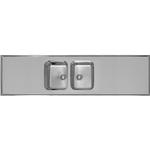 Alterna diskbänk 80cm 2200x600x180mm