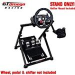 GT Omega APEX Steering Wheel Stand for Logitech Fanatec Clubsport Thrustmaster Gaming Wheel Pedal & Shifter Mount, TX T500 T300 G923 G29 G920 PS4 Xbox, Foldable & Tilt-Adjustable for Racing Console
