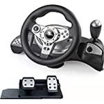 GAMEMON Racing Wheel Compatible With PS3 Playstation3 /PS2 Playstation2/PC-USB With Gear and Pedal