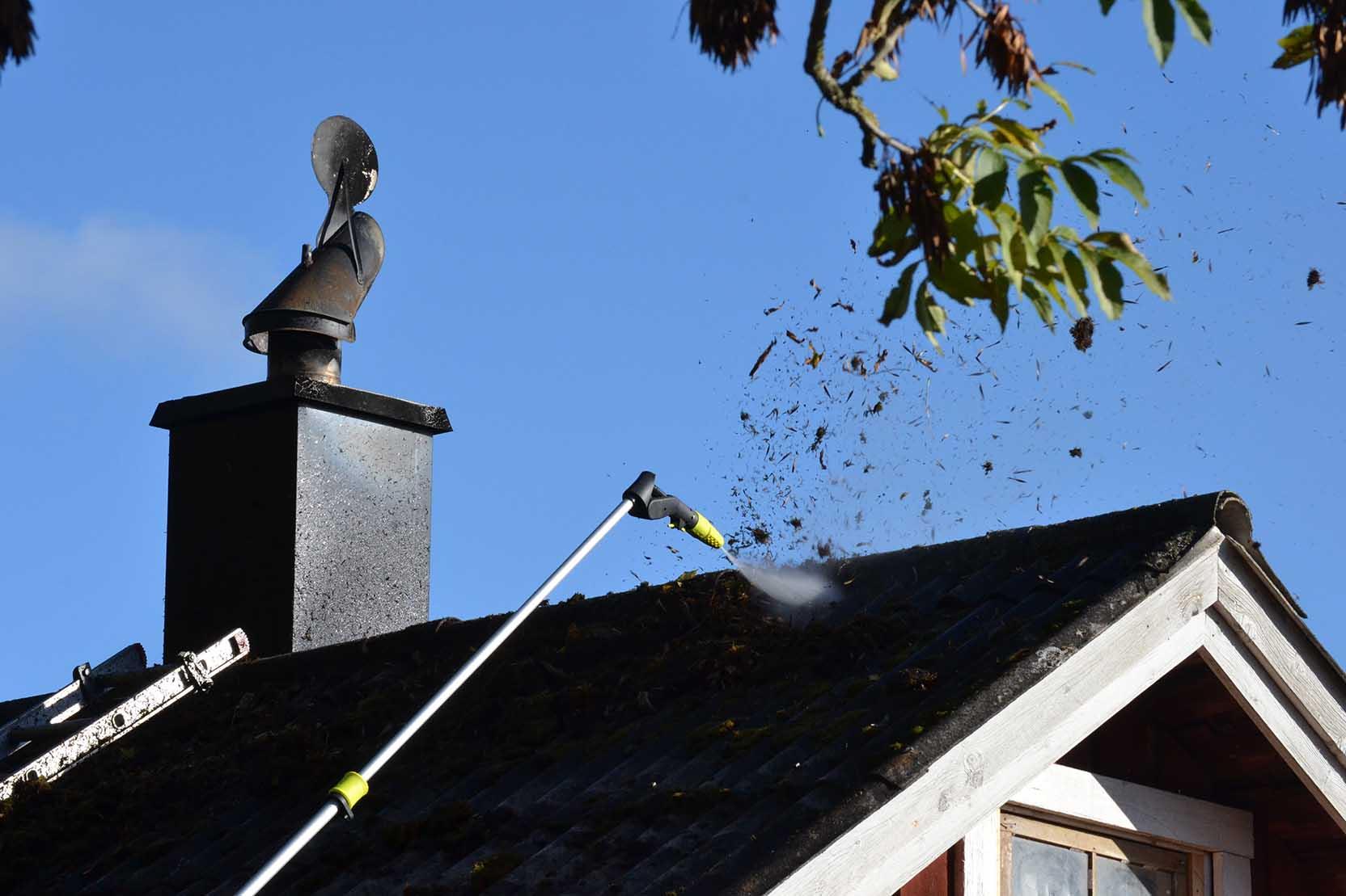 Det är inga problem att tvätta tak med Ava Go P40