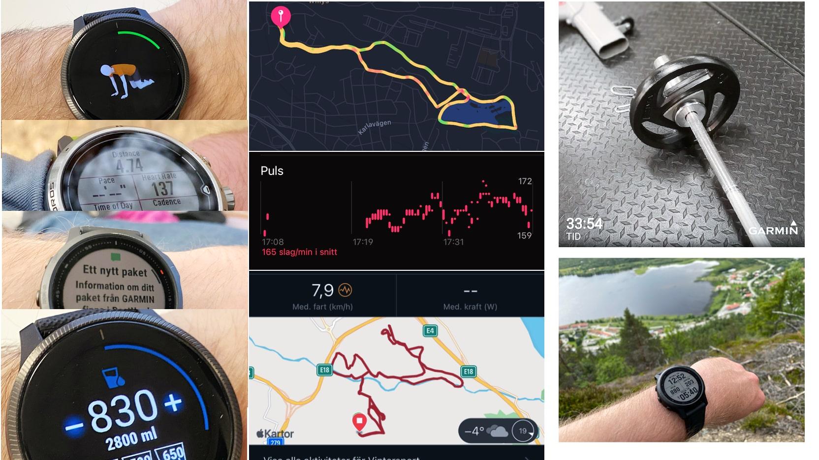 Pulsklocka, GPS-klocka, löparklocka, multisportklocka