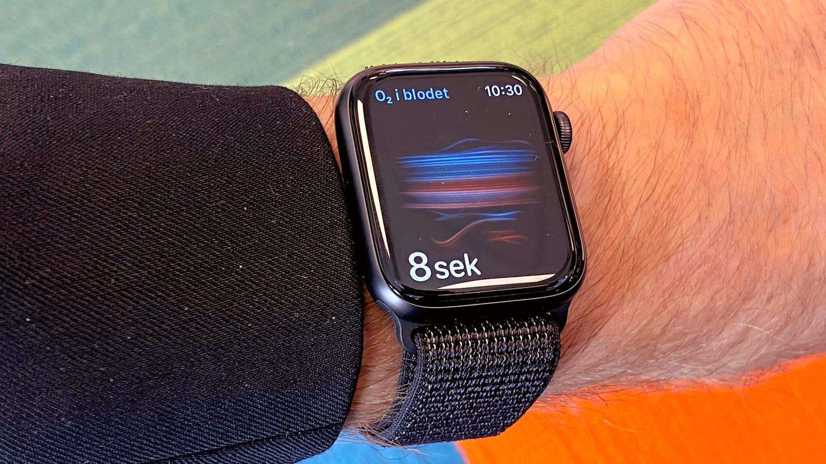 Syremätning I blodet hos Apple Watch 6