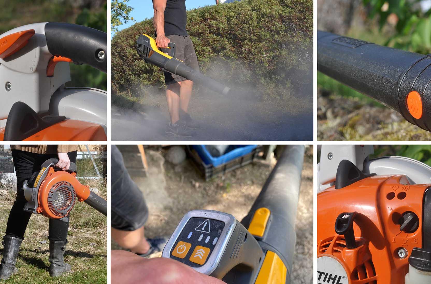 Vi testar lövblåsar i olika miljöer och under lång tid