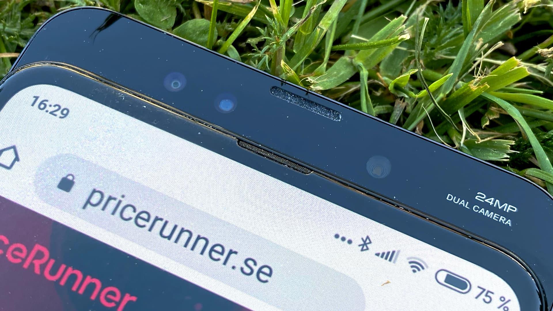 Xiaomi Mi Mix 3 close up skjutdelen