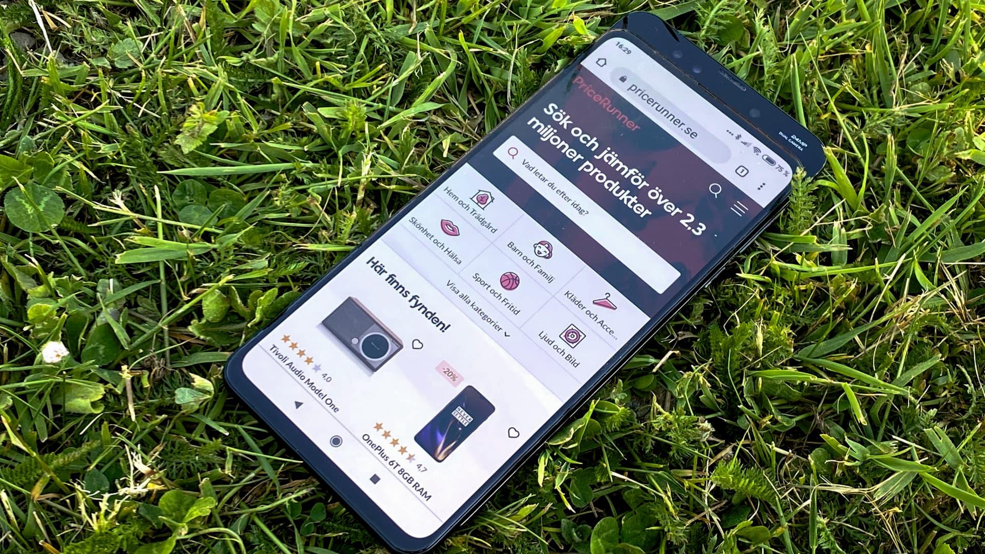 Xiaomi Mi Mix 3 framifrån uppskjuten