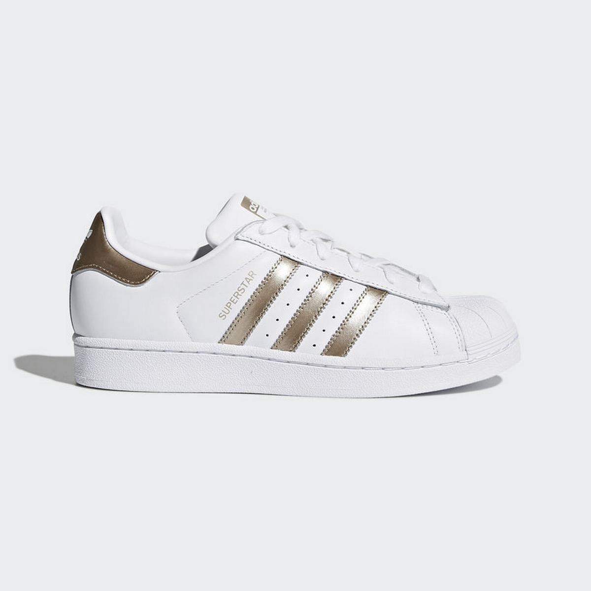 adidas Sverige | Herr Dam Adidas Superstar Vit Guld Tongue
