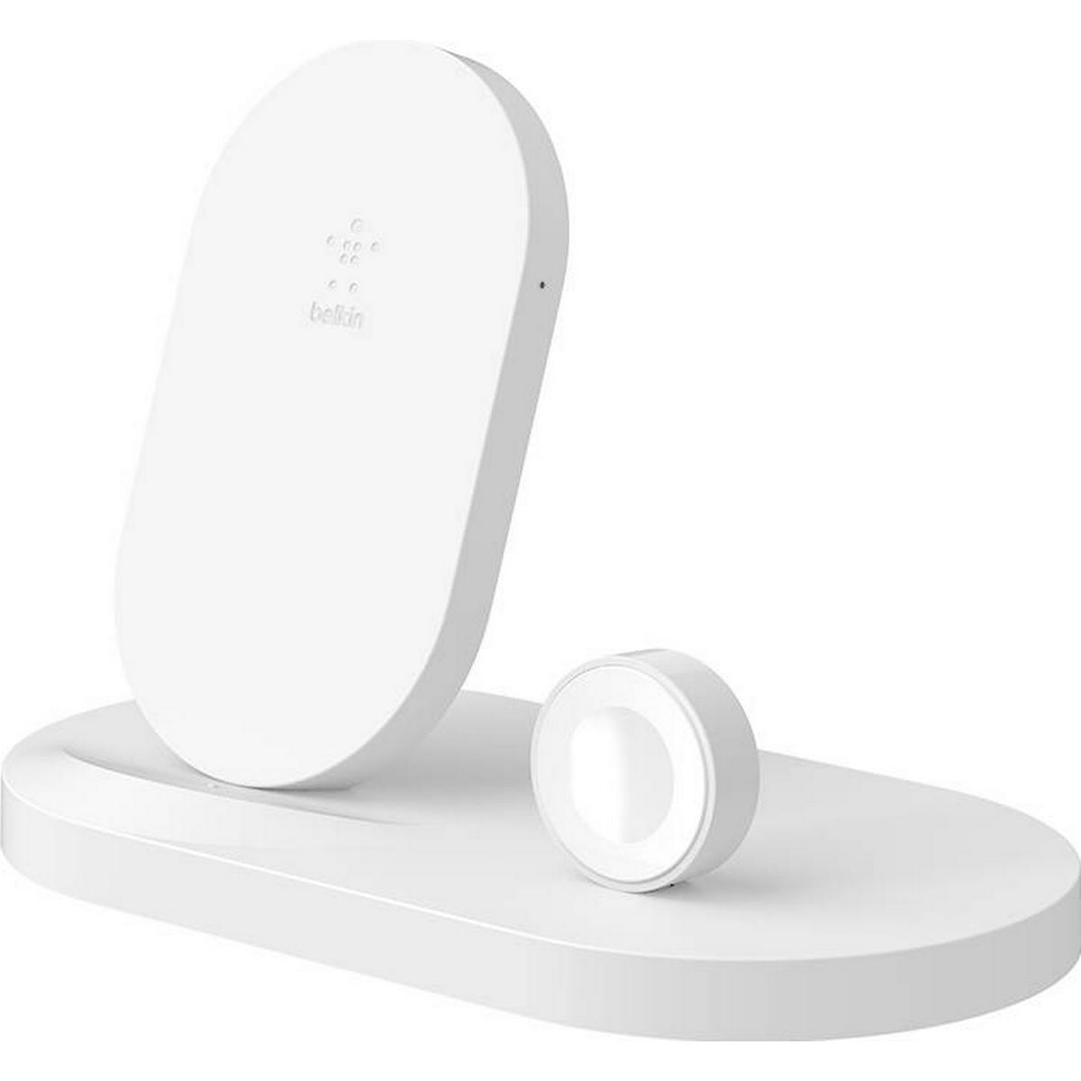 trådlös laddare, qi snabb 3 i 1 trådlös laddningsstation för Apple Watch iPhone, trådlös laddare stativ för airpods iphone x xr, trådlös laddning