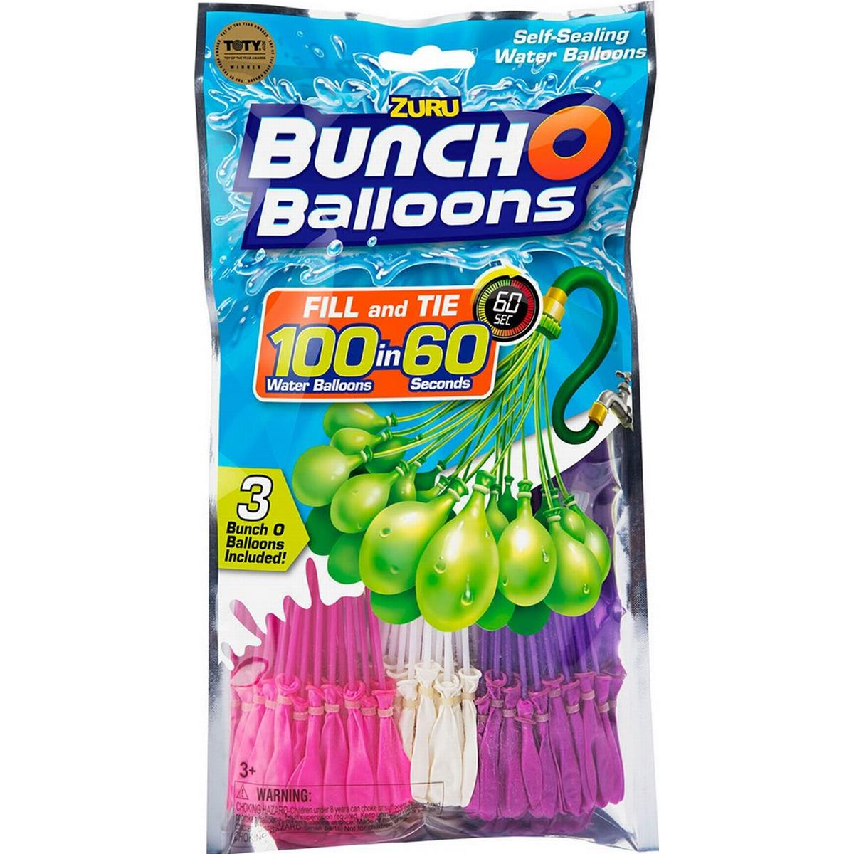 and Red White and Blue 3 Bunches 3 Bunches Minions Bunch O Balloons ZURU Self-Sealing Water Balloons Bundle