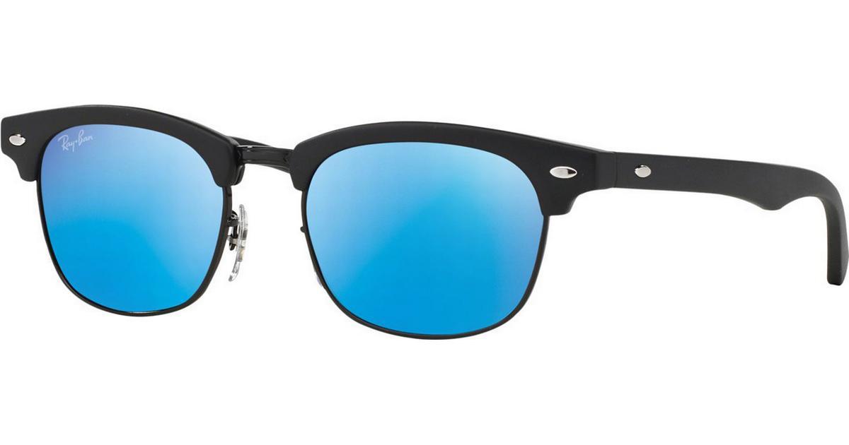 Blue Mirror Lense Black Frame Solglasögon Ray ban Babyshop