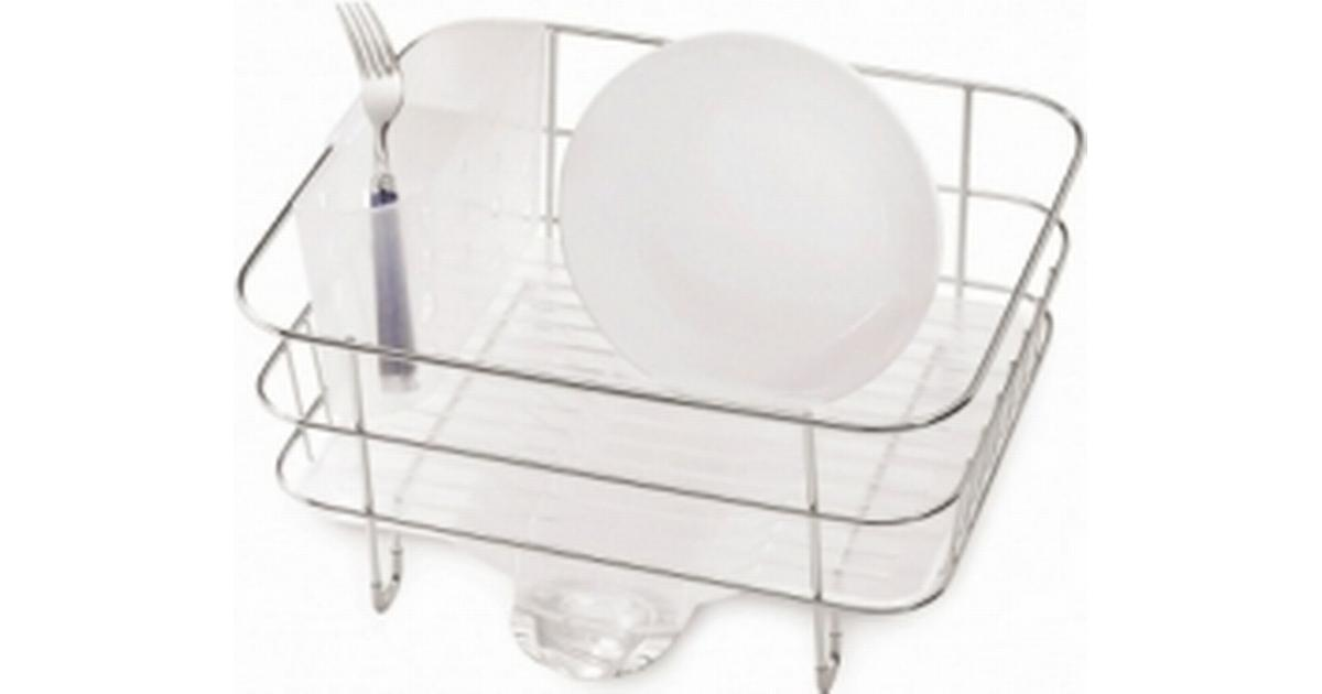 Grey. simplehuman Plastic Compact Dishrack