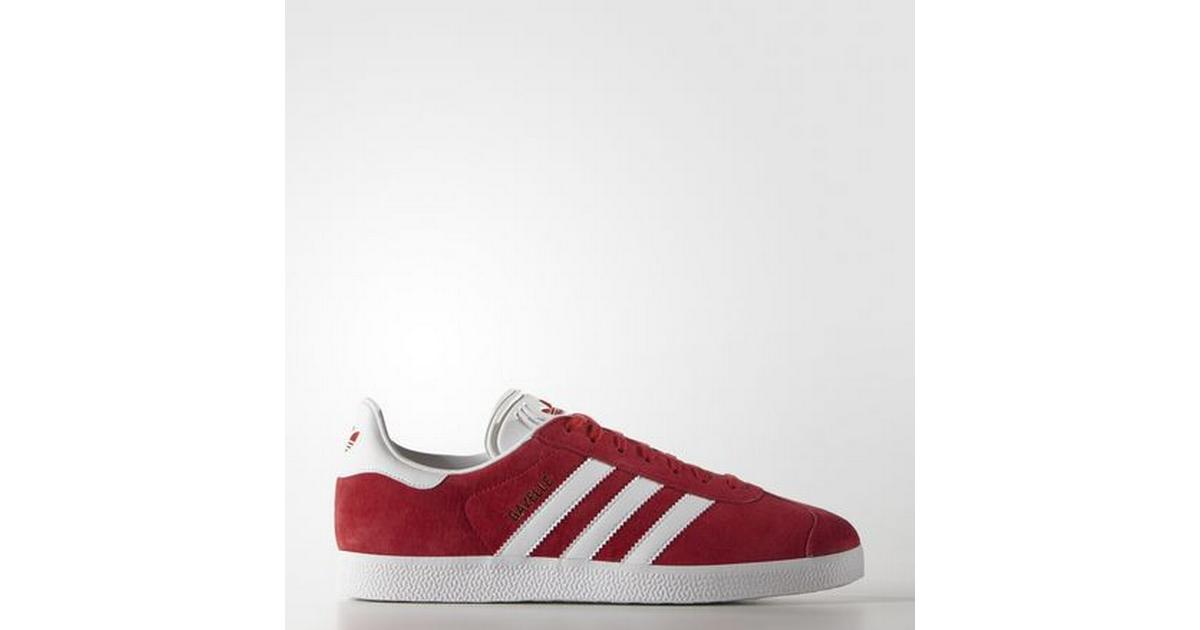 Snygga Adidas Gazelle Röd Vit Gymnastikskor Herr   8PRC