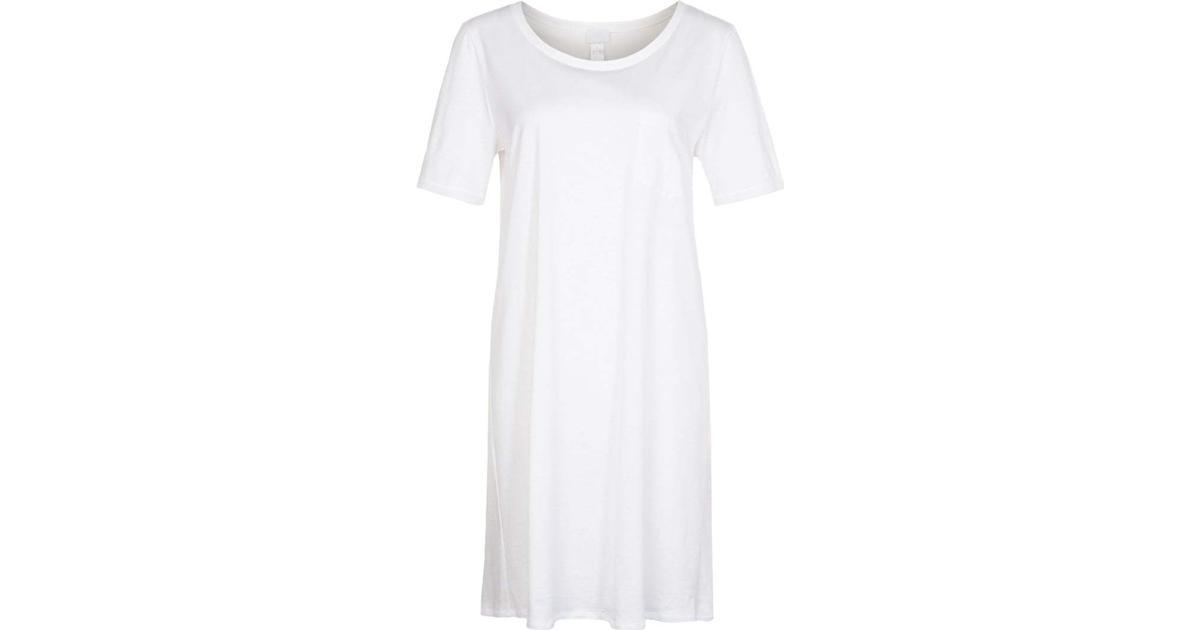 Hanro Cotton Deluxe Nightgown White Hitta bästa pris, recensioner och produktinformation på PriceRunner Sverige