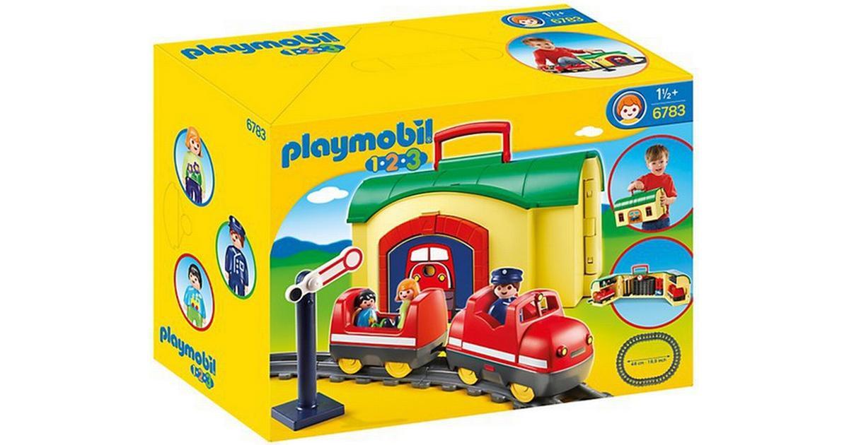 Playmobil 123 Railway Train Station Locomotive Tracks Track Train Bridge 6915