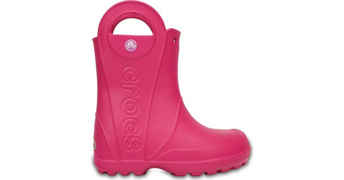 Crocs Kid's Handle It Rain Boot Candy Pink • Se priser (14