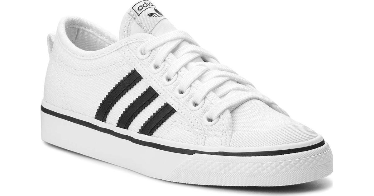 adidas Originals black and white Nizza sneakers