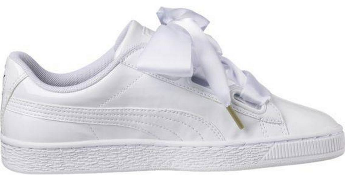 Puma Basket Heart Patent W White