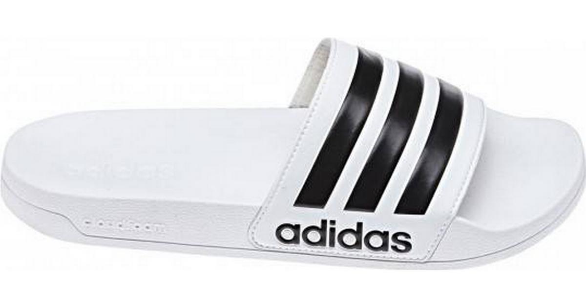 Adidas Adilette Cloudfoam Slides BlackWhite