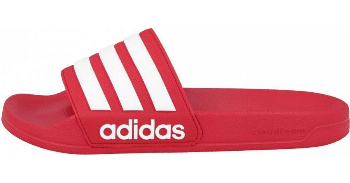 Adidas Cloudfoam Adilette RedWhite • Se priser (14 butiker) »