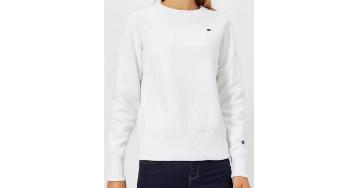 billigare Det bästa grossist online Champion Crew Neck Reverse Weave Sweatshirt White - Hitta bästa ...