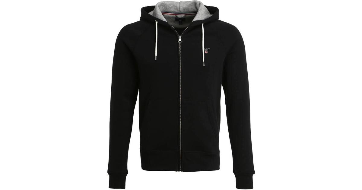 ny ankomst köper nu breda sorter Gant Original Full Zip Sweat Hoodie - Black - Hitta bästa pris ...