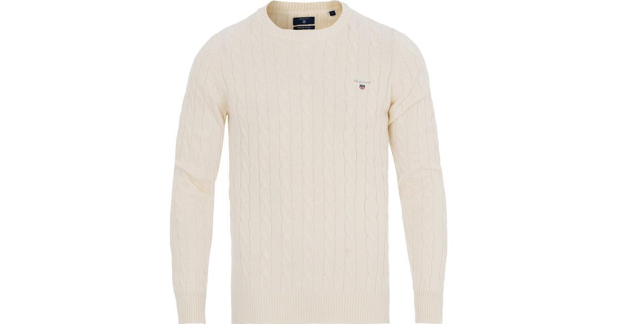 Gant Cotton Cable Crew Sweater Cream