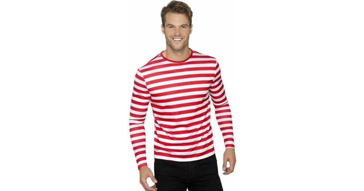 Smiffys Stripy T Shirt Red