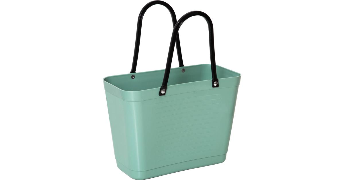 Hinza Green Plastic Shopping Bag Small Olive