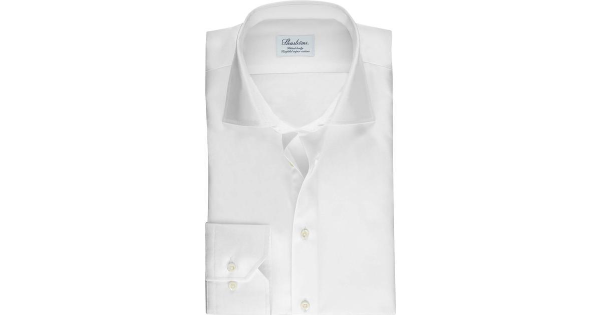 50% pris utsökt stil onlinebutik Stenströms Fitted Body Shirt In Superior Twill - White - Hitta ...