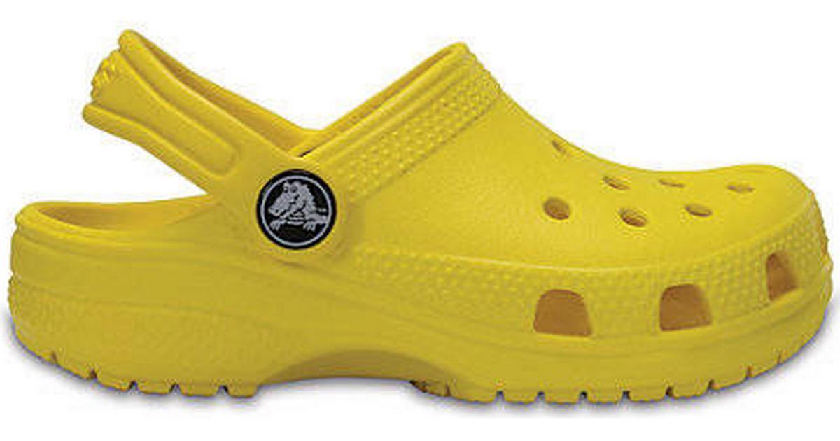Crocs Classic Clog K Lemon Gula badtofflor Barnskor
