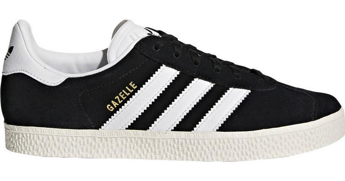 Skor Originals Adidas Gazelle Blackwhitegold Core Met Svarta