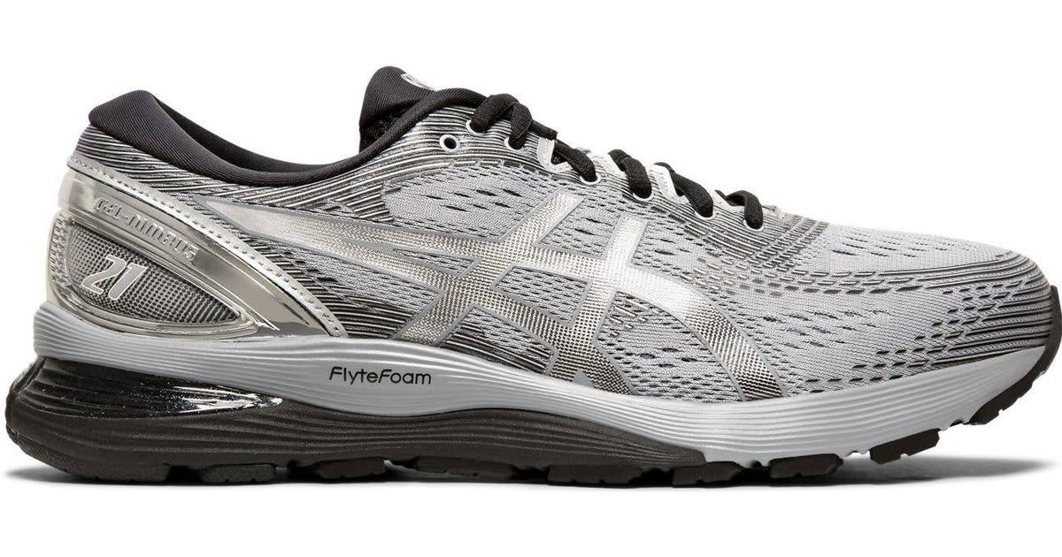 Asics Silver Gel Nimbus 21 Sneakers in RockSilver
