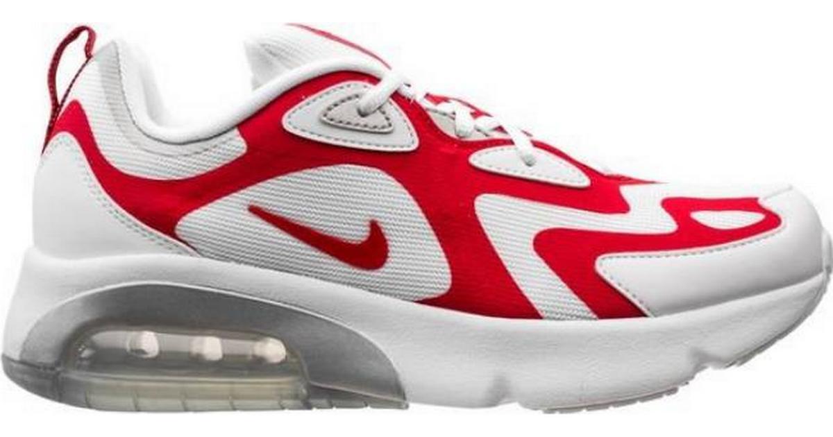 Nike Air Max 200 WhiteMetallic SilverUniversity Red