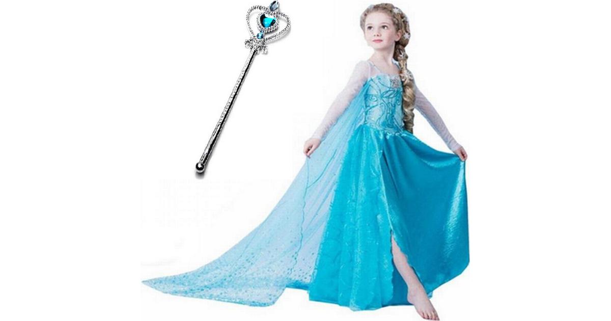Frost Frozen Elsa Princess Klänning + Magisk Stav Hitta bästa pris, recensioner och produktinformation på PriceRunner Sverige