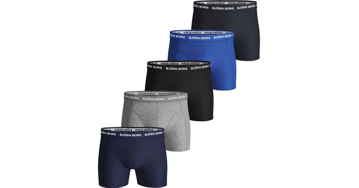 Björn Borg Solid Essential Shorts 5 pack Blue Depths
