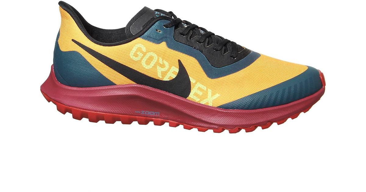 Nike Zoom Pegasus 36 Trail GTX M University GoldNoble RedMidnight TurquoiseBlack